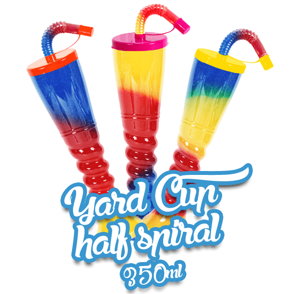 Yard Cup Flat Cover - Half Spiral 350ml