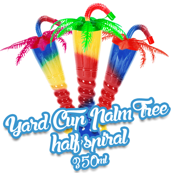 Yard Cup Palm Tree - Half Spiral 350ml