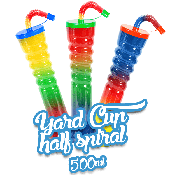 Yard Cup Flat Cover - Half Spiral 500ml