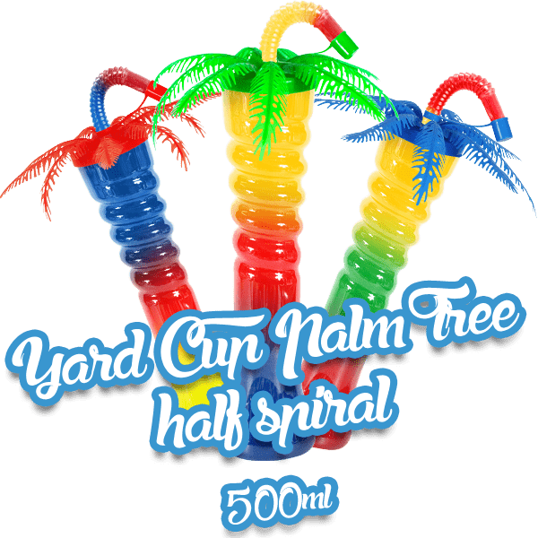Yard Cup Palm Tree - Half Spiral 500ml