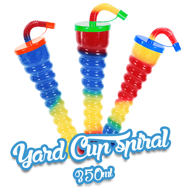 Yard Cup Flat Cover - Spiral 350ml