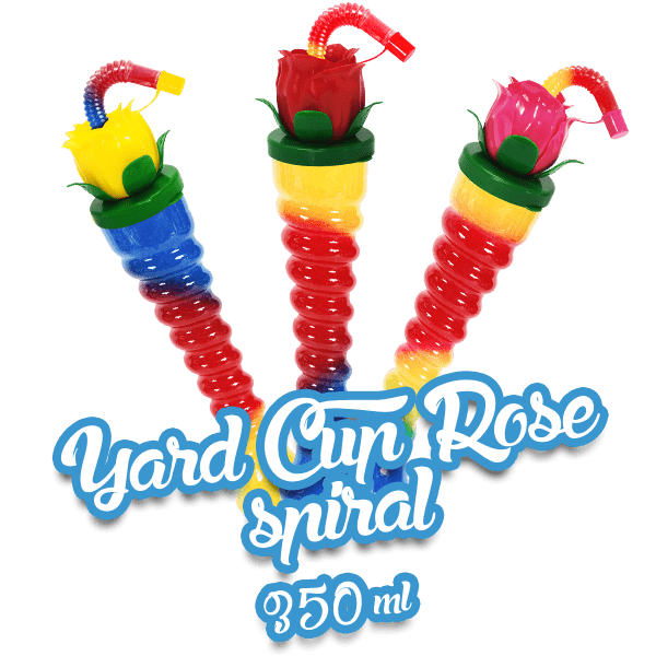 Yard Cup Rose - Spiral 350ml
