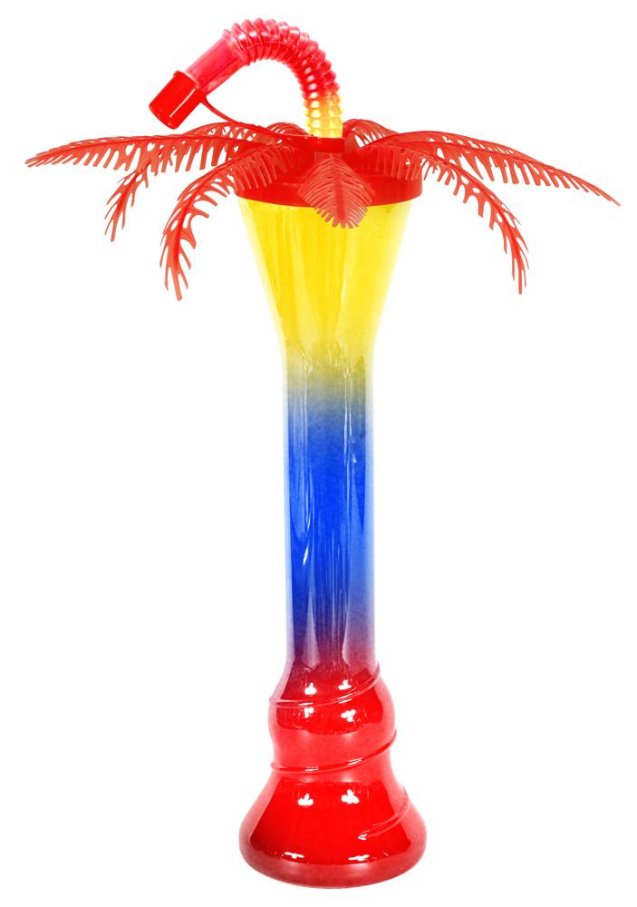 Pomarańczowa palma z butelką