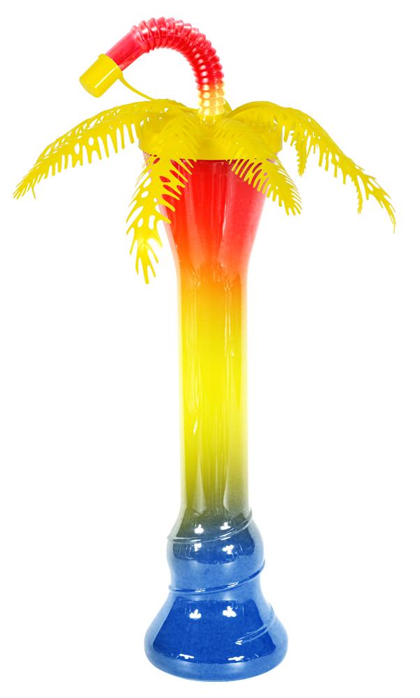 Żółta palma z butelką