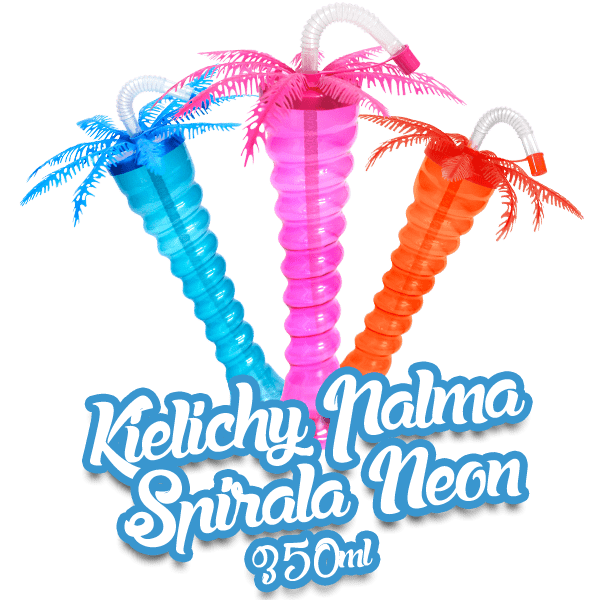 Kielichy Palma Spirala Neon 350ml