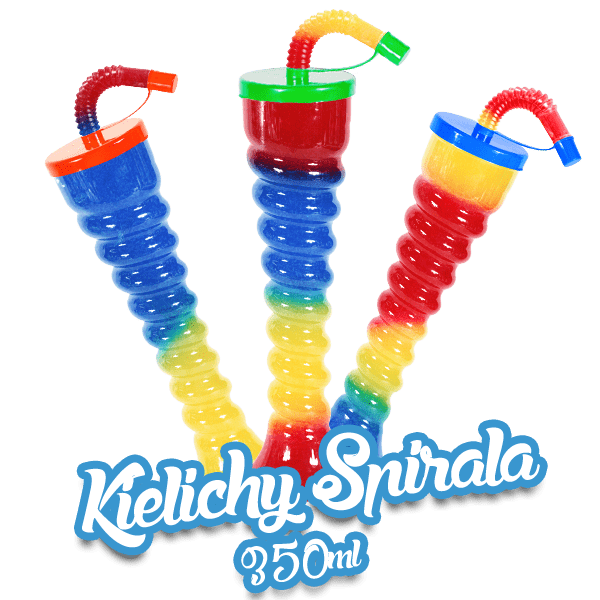 Kielich Płaski Dekielek - Spirala 350 ml
