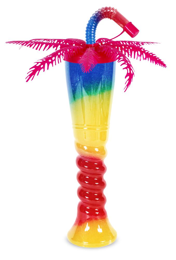 Różowa butelka do sorbetu palma