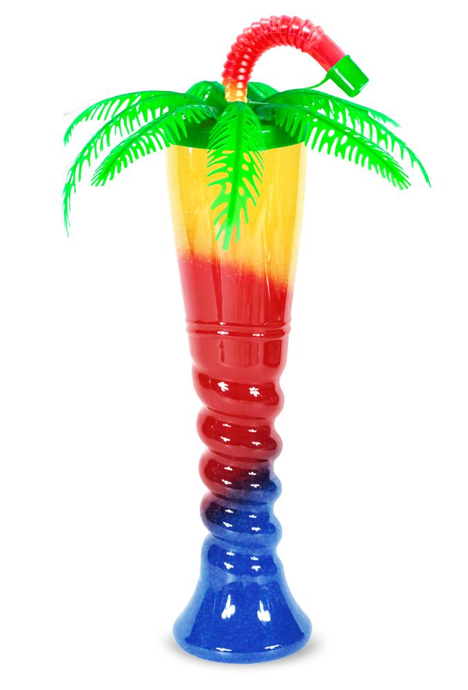 Zielona butelka do sorbetu palma