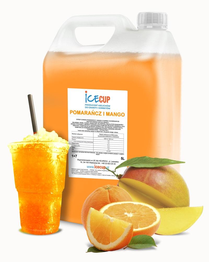 Syrop do granity pomarańcz i mango