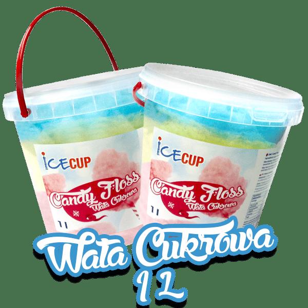 Wata cukrowa w kubku 1 litrowa